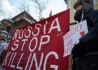Protest przeciwko wojnie w Syrii pod konsulatem rosyjskim