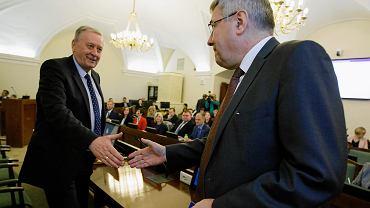 Pierwsza robocza sesja Rady Miasta Poznania. Wojciech Kręglewski i Grzegorz Ganowicz