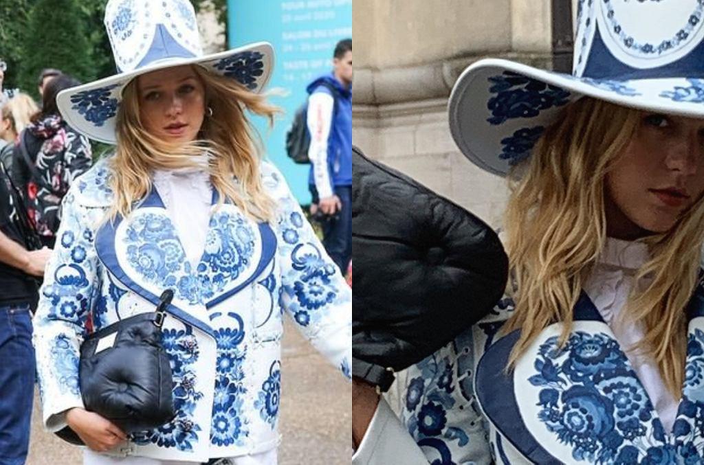 Jessica Mercedes na Fashion Weeku w Paryżu