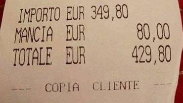 Paragon z włoskiej restauracji