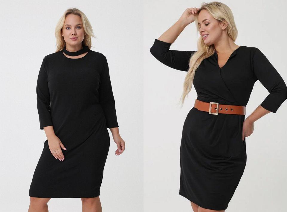 Czarne sukienki w rozmiarze plus size