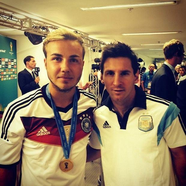 Mario Goetze i Leo Messi