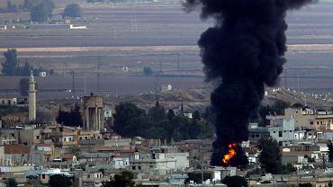 Skutki tureckiego ostrzału w północnej Syrii