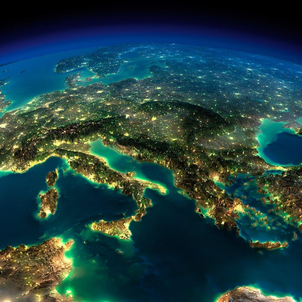 Europa z kosmosu