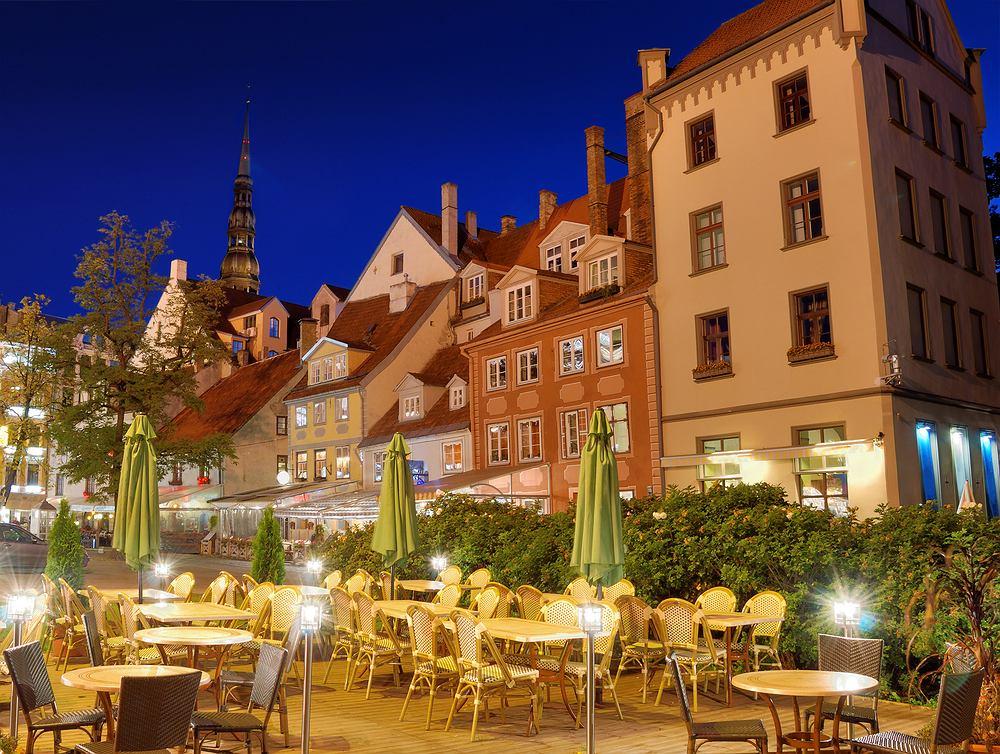 Łotwa Ryga - restauracja przy ryskiej starówce