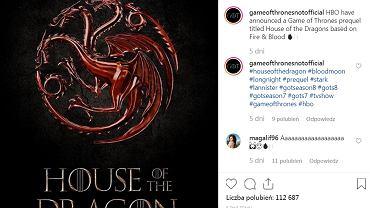 HBO wyprodukuje spin-off serialu 'Gra o Tron'. O czym będzie produkcja 'House of the Dragon'?