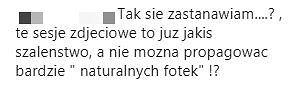 Komentarz na profilu Anny Lewandowskiej