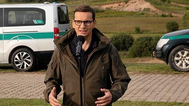 Koniec sierpnia, Mateusz Morawiecki wizytuje granicę polsko-białoruską