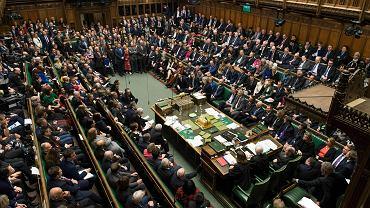 Premier Wielkiej Brytanii Theresa May przemawia w Izbie Gmin w Londynie, po odrzuceniu jej planu Brexitu. Londyn, 15 stycznia 2019