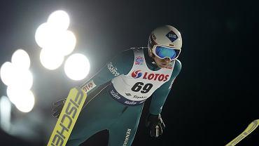 22.11.2019  Wisła . Kamil Stoch podczas skoków narciarskich w ramach Pucharu Świata .