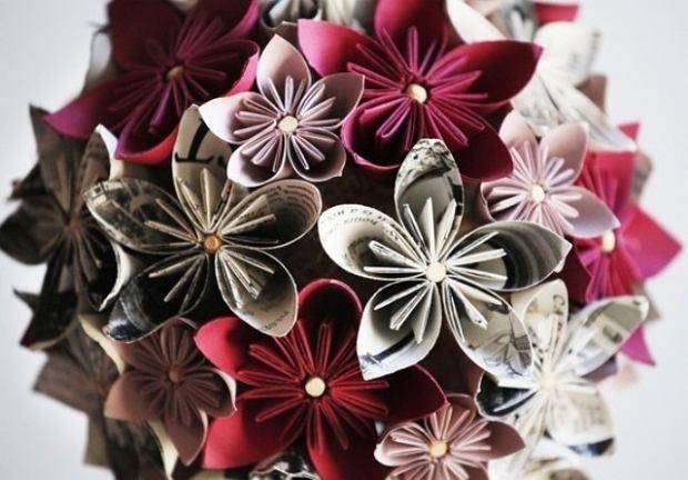 Kwiaty z papieru - dekoracja na co dzień i od święta