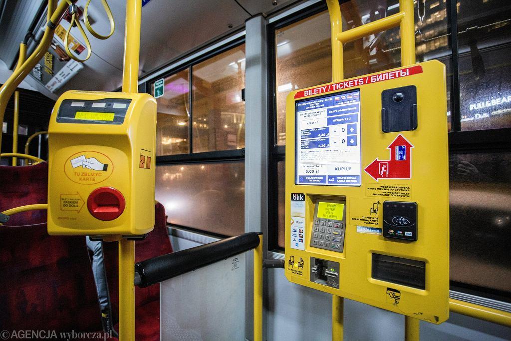 Język ukraiński w biletomatach w komunikacji miejskiej w Warszawie