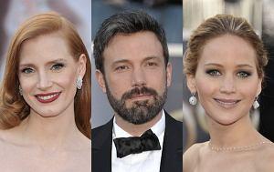 Jessica Chastain, Ben Affleck, Jennifer Lawrence
