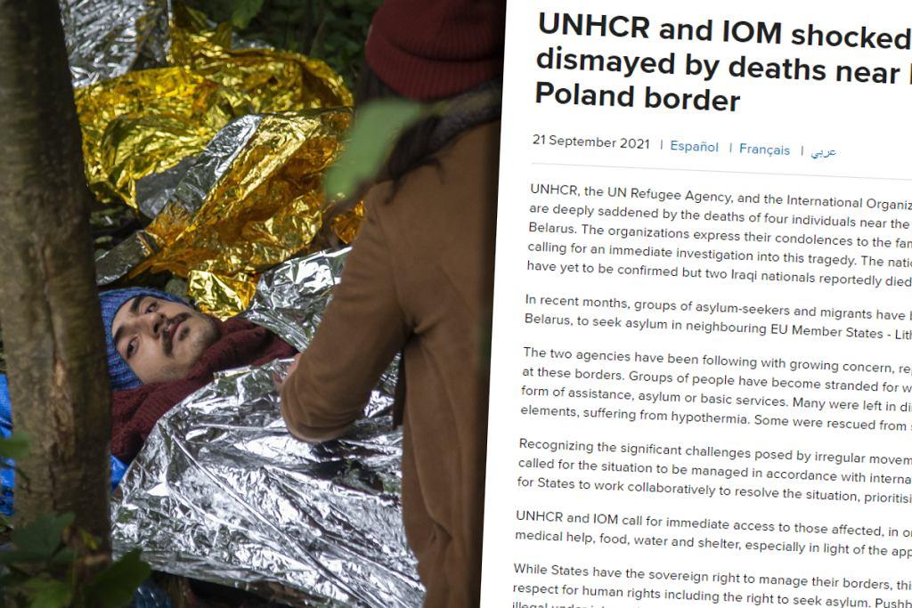 Uchodźcy na granicy polsko-białoruskiej