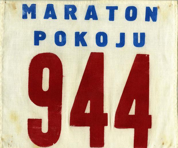 numer startowy z 1980r./ Maraton Pokoju