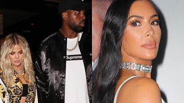 Kim Kardashian, Tristan Thompson., Khloe Kardashian