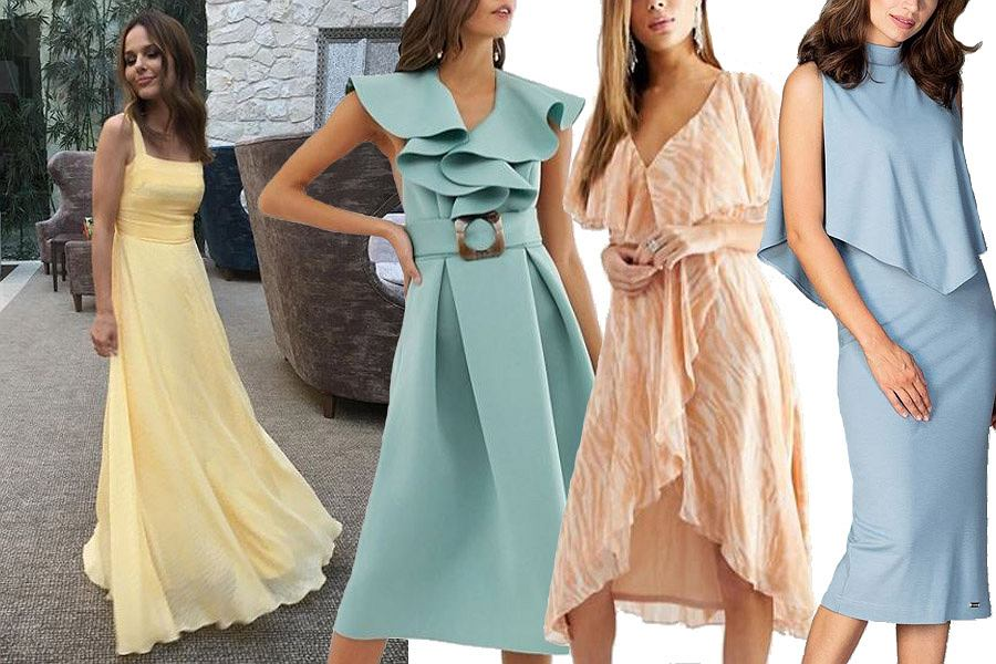pastelowe sukienki na wesele / mat. partnera