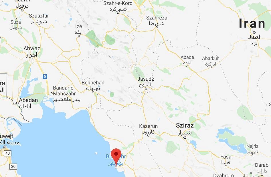 Trzęsienie ziemi w miejscowości Buszehr w Iranie.