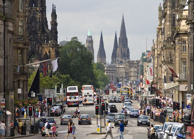 Edynburg - tutaj również organizowane są wycieczki biegowe połączone ze zwiedzaniem miasta