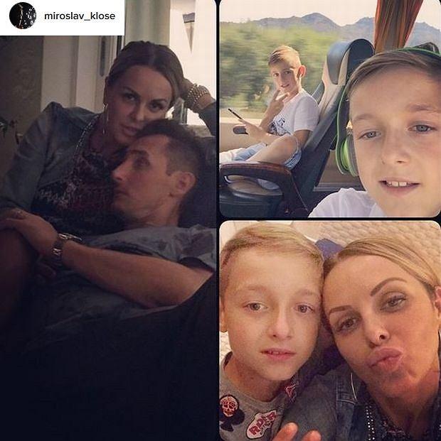 Miroslav Klose z rodziną