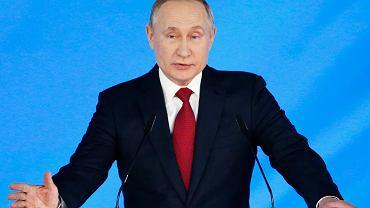Władimir Putin wygłasza orędzie do zgromadzenia parlamentarnego, 15 stycznia 2020 r.