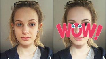 Makijaż robiony w YouCam Makeup