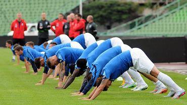 Lech Poznań trenuje na Stadionie Olimpijskim w Sarajewie przed meczem z FK Sarajevo