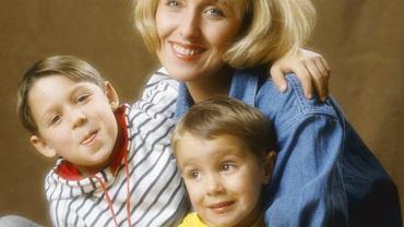 Agata Młynarska z synami