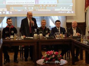 Tadeusz Ferenc spotkał się z siatkarzami i nowym prezesem Asseco Resovii.