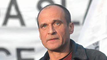 Paweł Kukiz podczas protestów w Rudzie Śląskiej