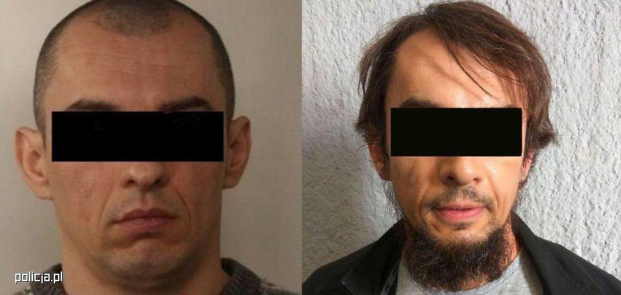 Zatrzymany Dariusza N. przed i po zmianie wyglądu