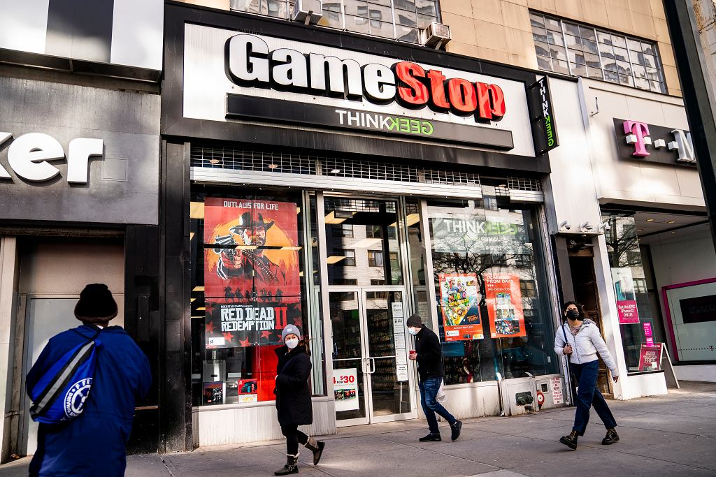 Sklep sieci Game Stop na Manhattanie.