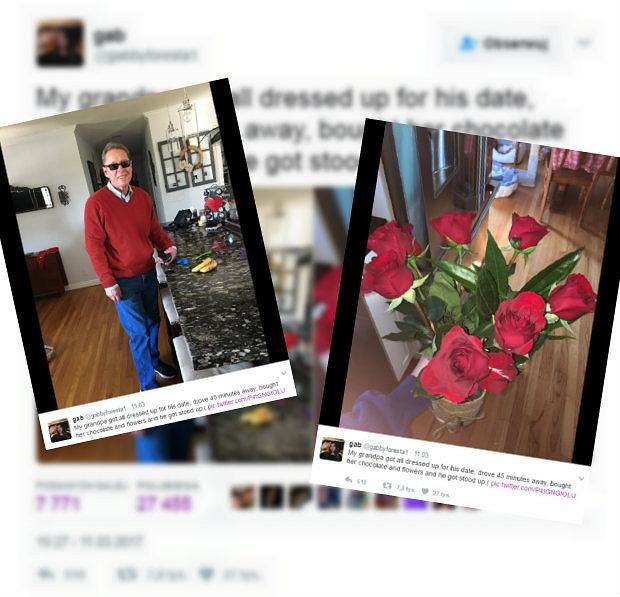 76-latek umówił się przez internet na randkę.