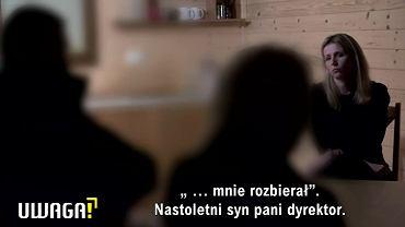 Kadry z reportażu 'Uwagi' TVN o molestowaniu w przedszkolu