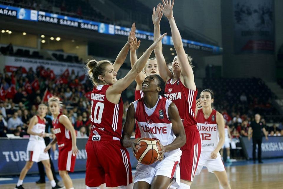 W kwalifikacjach do Eurobasketu 2019 polskie koszykarki przegrały w Turcji 53:73