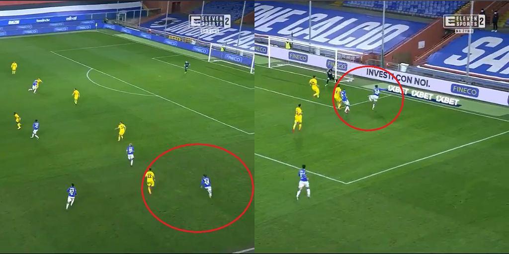 Bartosz Bereszyński - gol z Cagliari