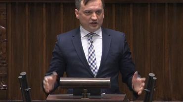 Zbigniew Ziobro na posiedzeniu Sejmu 15.05