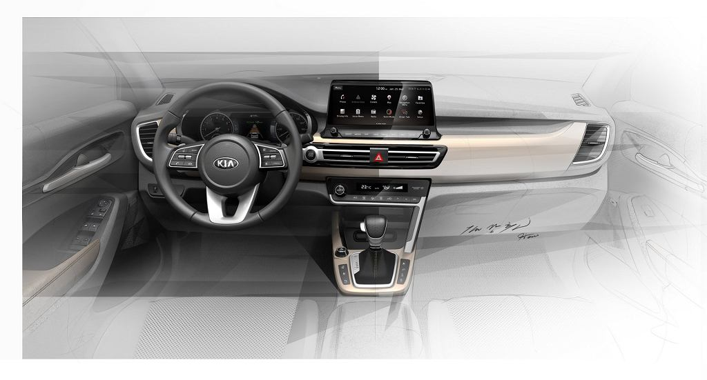 Wnętrze nowego małego SUV-a Kii