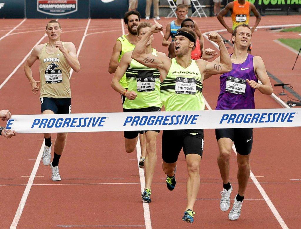 Nick Symmonds wygrywa mistrzostwa USA na 800 m