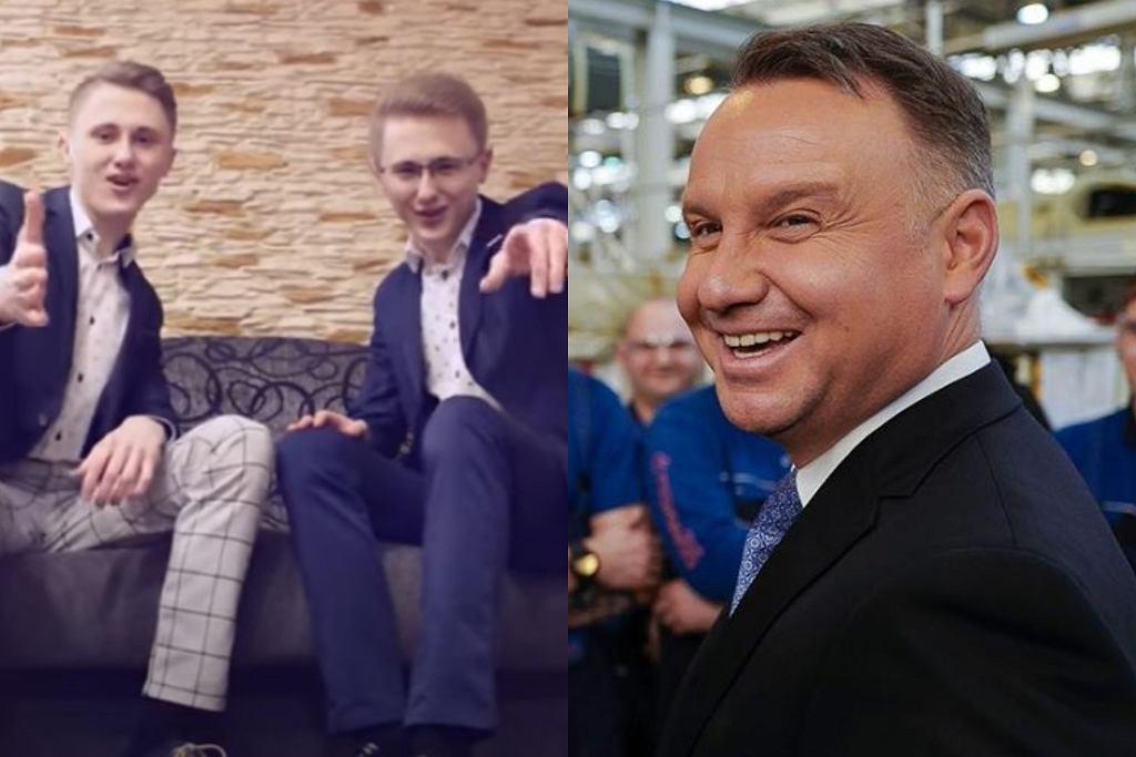 Super TWiNS nagrali piosenkę o Andrzeju Dudzie