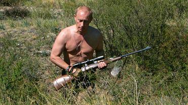Putin w październiku 2010 r. na polowaniu przy granicy z Mongolią