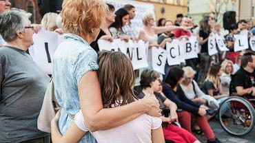 Protest solidarnościowy z Rodzicami Osób Niepełnosprawnych