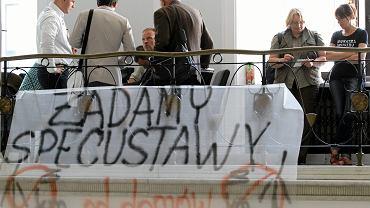 Protest ws. farm wiatrowych