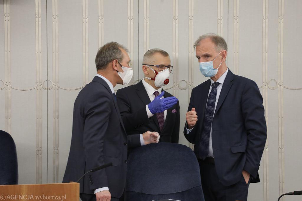 Połączone Komisje senackie: Ustawodawcza, Praw Człowieka i Samorządu Terytorialnego, 28 kwietnia 2020 r.