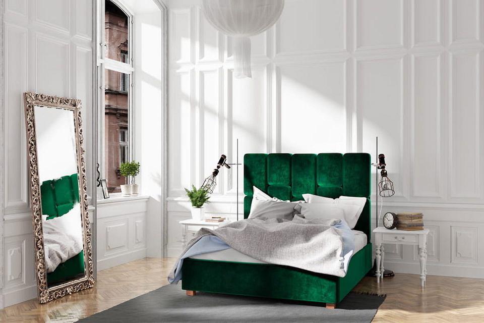 Łóżko welurowe Snodroppe.