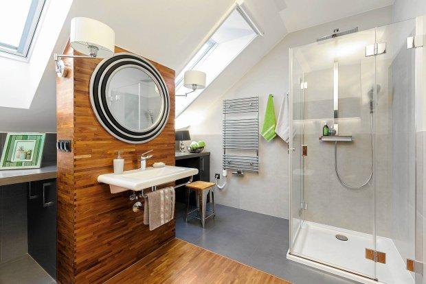 łazienka Pod Skosami Budowa Projektowanie I Remont Domu