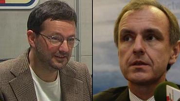 Jan Wróbel, prowadzący Poranek Radia TOK FM i Bogdan Klich
