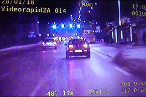 Kierowca jadący 115 km na godzinę w samym centrum Kielc