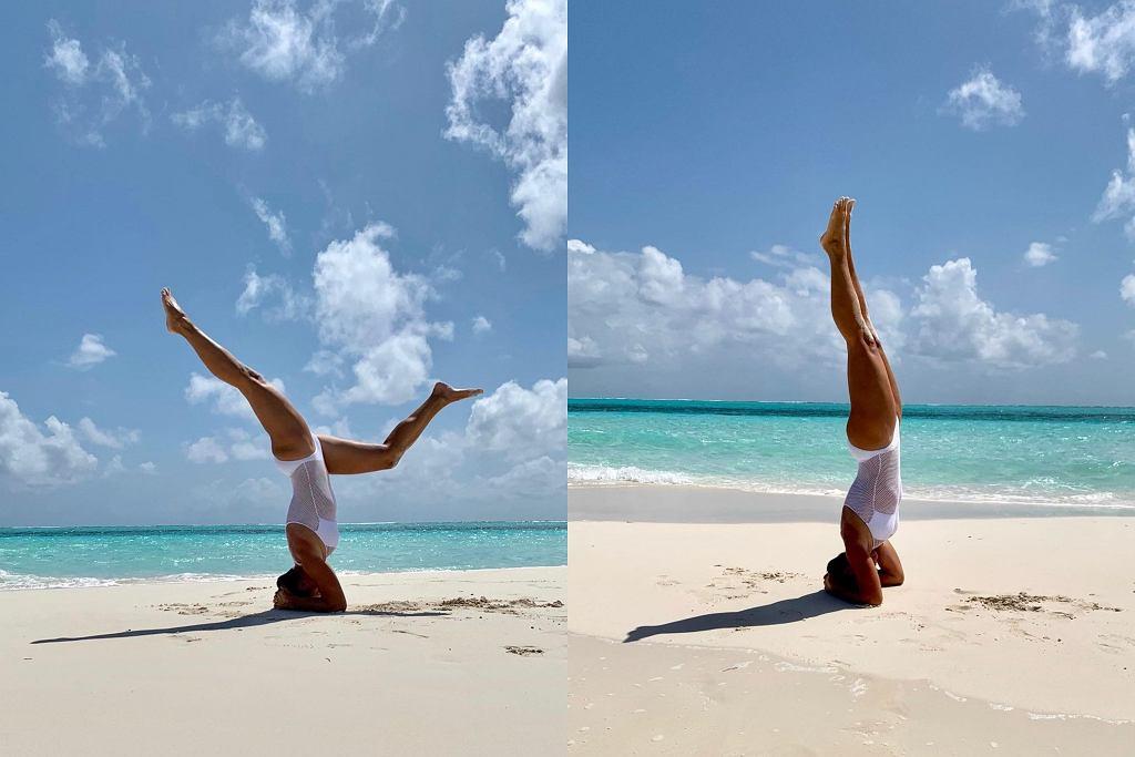 Kinga Rusin ćwiczy jogę