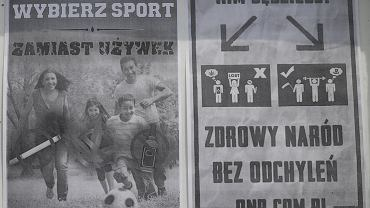 Tablica przy ulicy Zamkowej w Pabianicach